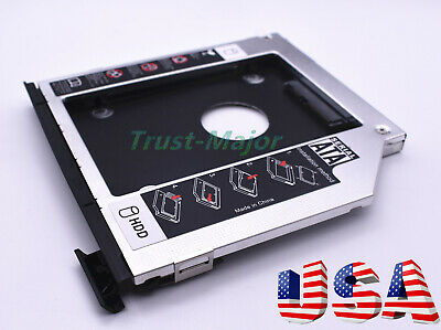 2nd HDD SSD Caddy for Dell Latitude E6440 E6540 M2800 with Bezel ejector latch