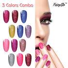 FairyGlo Vernis A Ongles Néon Gel Polish Semi Permanent LED UV Lot de 3 Couleurs