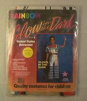 Glow In The Dark United States Astronaut Child Halloween Costume 3 - 4 Years