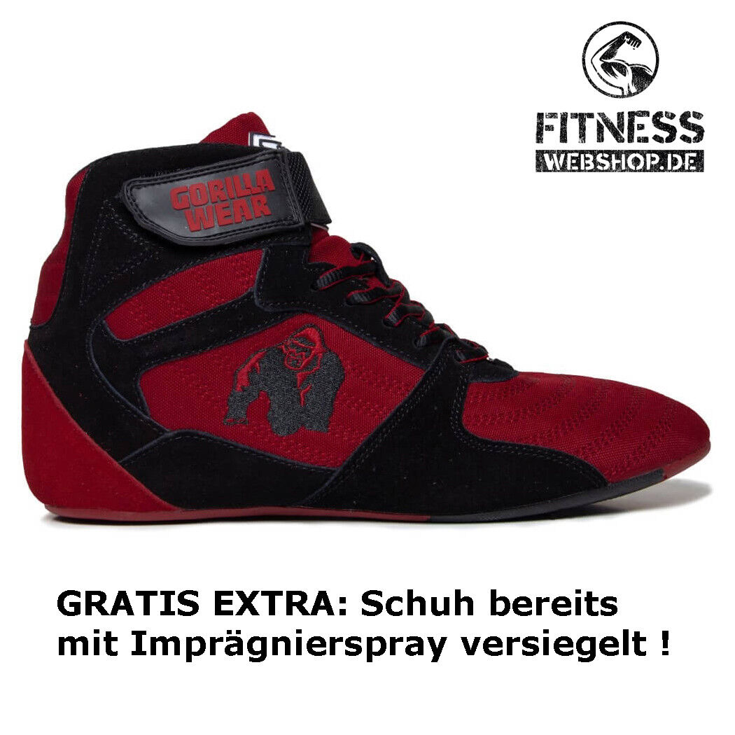 Fitness Wear Perry Schwarz Gorilla Tops High Pro Rot bf67gyY