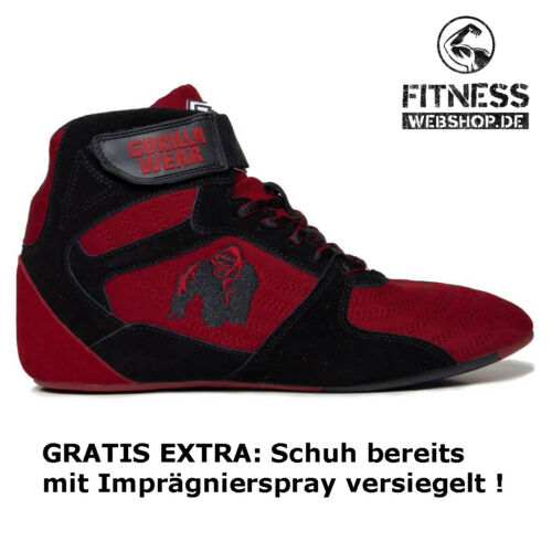 Gorilla Wear PERRY HIGH TOPS PRO Red//Black Rot Fitness Bodybuilding Sport Schuhe