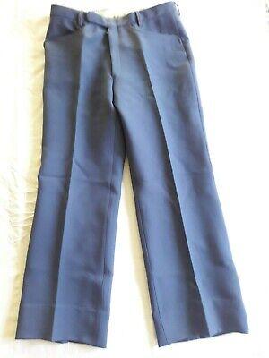 N01 Pantalon Homme Gris Mérignac T.36 Vintage 70 Grey Man Trousers Siz S