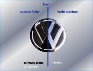 Folierung-Set-schwarz-chrom-passt-fuer-Heck-VW-Emblem-Golf-VII-5G-ab-2013