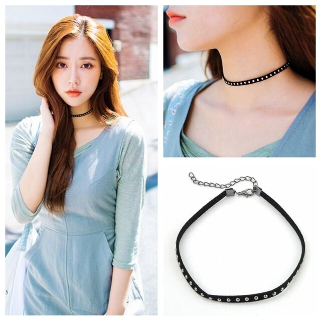 Vintage Retro Rivet Punk Chain Collar Chunky Choker Necklace 80S 90S Gift NEW