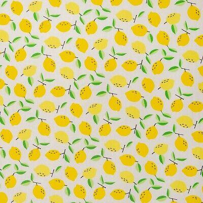 Jersey Stoff Zitronen Breite 160cm