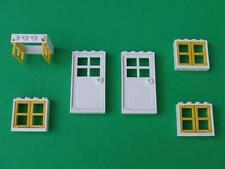 New Lego City Friends Belville Town House Doors and Windows Parts Pieces Lot Set