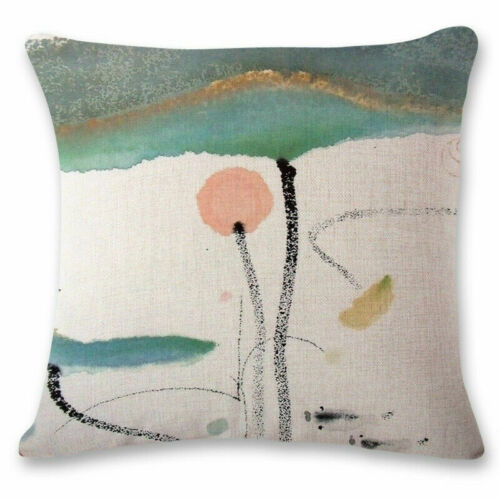 """18/"""" Chinese style Ink painting Lotus Home Decorative Throw Pillow Case"""