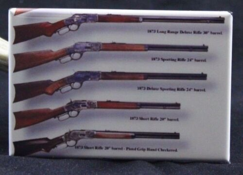 "Winchester Hunting Rifles 2/"" X 3/"" Fridge Magnet Vintage Advertising."