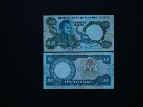"p24   1984  Scarce Early Prefix  /""AE/""   Mint UNC NIGERIA BANKNOTES  20 NAIRA"