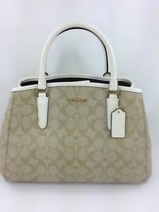 193cd51aa Image is loading New-Coach-F58310-Small-Signature-Margot-Carryall-Satchel-