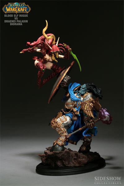 Warcraft statue Blautelfen und draenei rogue paladin diorama...