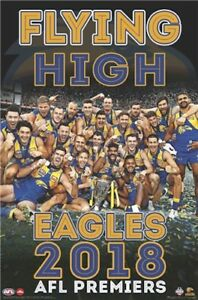 AFL-Premiers-2018-West-Coast-Eagles-Flying-High-POSTER-61x91cm-NEW-footy-champs