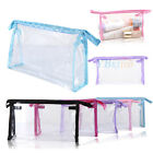 1/3/5/10PC PVC Clear Transparent Plastic Cosmetic Makeup Travel Toiletry Bag New