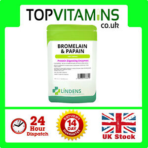 Bromelain-10mg-amp-Papain-1000mg-100-Tablets-Protein-Digesting-Digestive-Enzymes