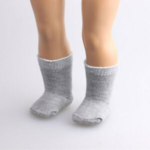 Simple-Grey-Stocking-Socks-for-18inch-AG-American-Doll-Dolls-Accs