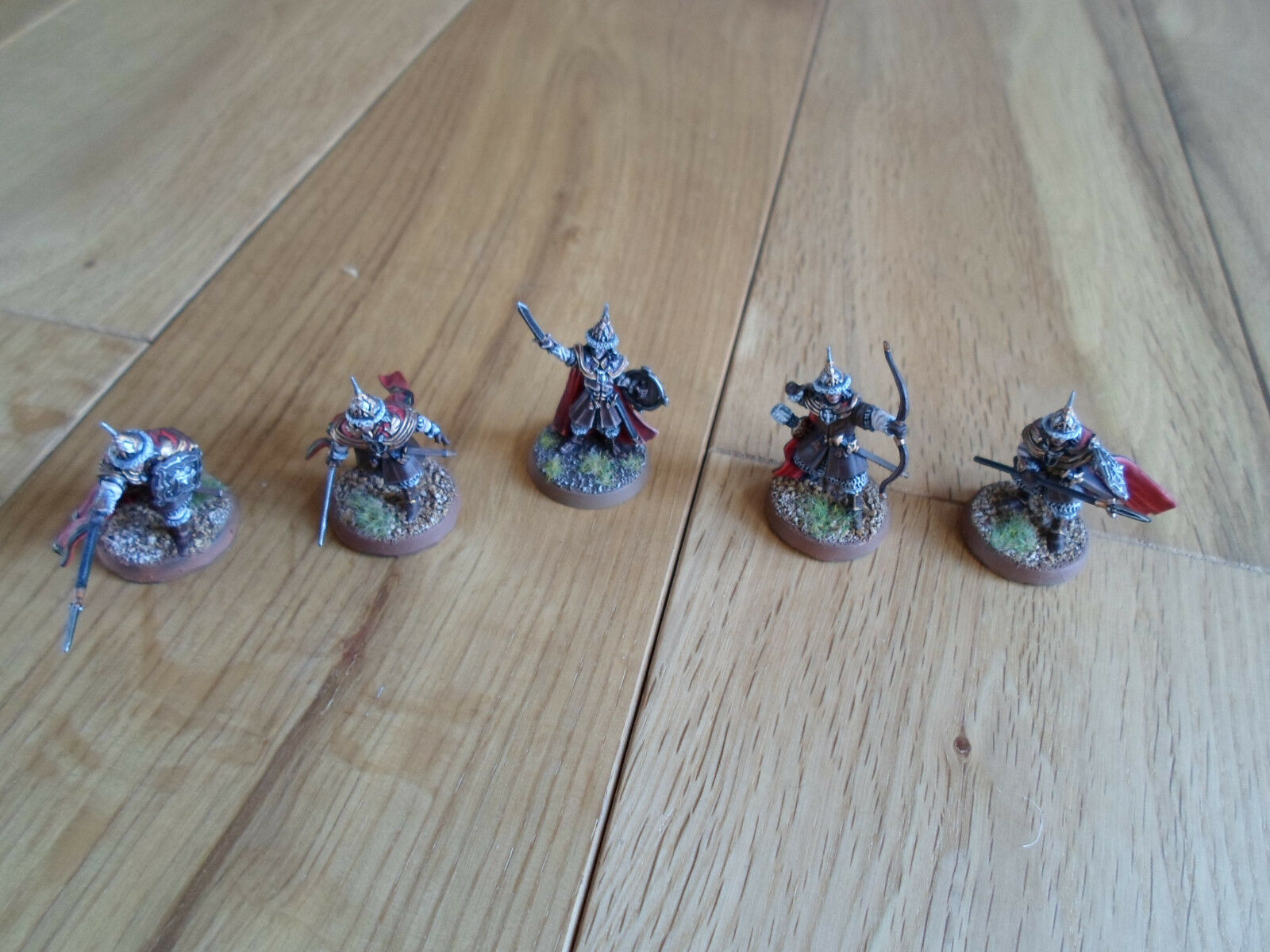 RARE Dale Captain and Guards Lord of the Rings Pro-Painted 5 Miniatures
