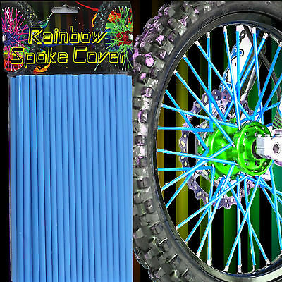 72 Motorrad Fahrrad Speichen Cover Tube Überzug Wheel Spoke Rim Wraps Skins Gelb