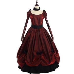 Ladies-039-Vintage-Victorian-Bowknot-Dress-Gothic-Ball-Gown-Elegant-Prom-Full-Dress