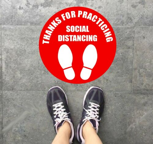 "Social Distancing Floor 10/"" Vinyl Decal Sticker FREE Shipping"