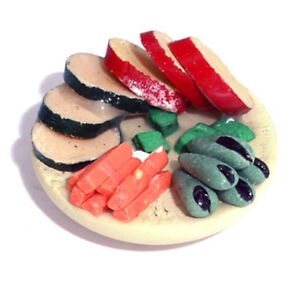 Dolls House Miniature Plate Of Vegetarian Stuffed Starters
