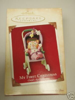 2004 HALLMARK My First Christmas Child/'s Age Girl