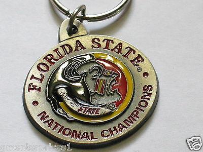Automobilia Süß GehäRtet Florida Staat National Champions Keychain Schlüsselanhänger Sammler Ware