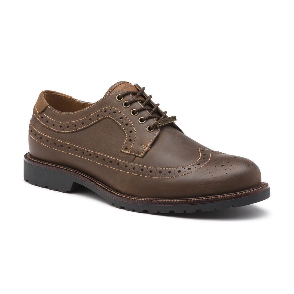 Men's G.H. Bass WaterProof Brogue WingTip Oxford Shoe Andrew Brown Leather