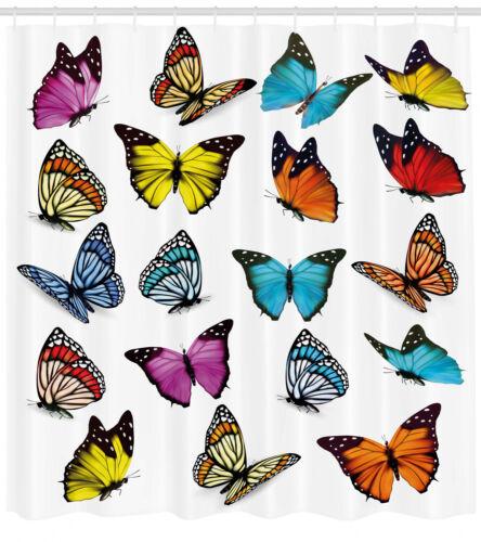 Animal cortina de ducha mariposas colección