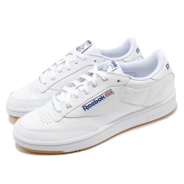 Reebok Club C 85 White Royal Blue Gum Men Classic Casual Shoes Sneakers AR0459
