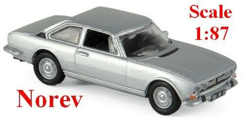 Peugeot 504 coupé 1971 gris métallisé - NOREV - Echelle 1/87 - Ho