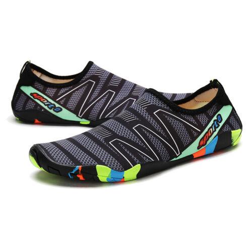UK Mens Womens Non-slip Light Swimming Beach Shoes Aqua Skin Soft Water Shoes