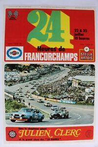 Affiche Ancienne 24 H Spa Francorchamps Julien Clerc Ford Capri Camaro 1971 ?