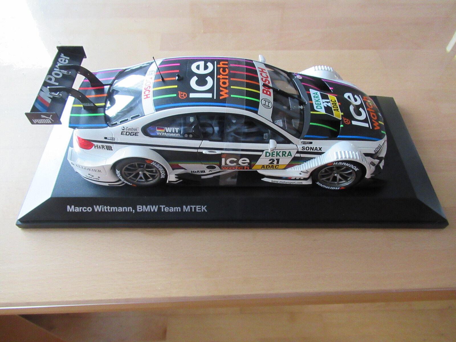 Voiture miniature BMW m3 DTM 2013 Marko Wittmann WAV, BMW Team MTEK M 1 18,