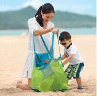 Extra Large Kid Child Family Mesh Sea Beach Bag Sand Toys Towels Storage Bag Us