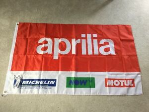 Aprilia motorcycles moto gp workshop flag banner
