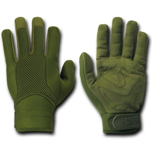 Olive Neoprene Tactical Military Combat Patrol Gloves Glove Pair S M L XL 2XL