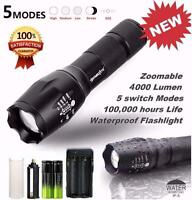 Tactical Flashlight X800 G700 Led Zoom Military Torch Battery Charger Skywolfeye