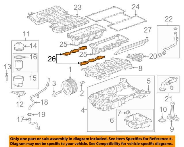 JAGUAR OEM 3.0 Supercharged Engine Intake Manifold Gasket C2Z17249