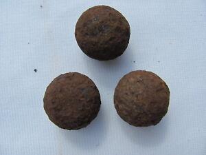 (3)Civil war era iron grapeshot, canister shot, 139 grams