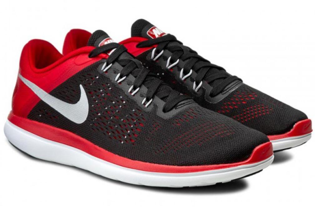 Nike running schuhe flex 2016 Weiß rn schwarz ROT Weiß 2016 fitsole 80 830369 006 mens 12,5 a318c4