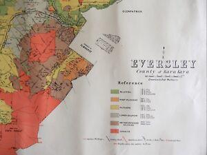 Details about [Map]. Eversley, County of Kara Kara. Melbourne: Crown Lands  Dept., 1890s.