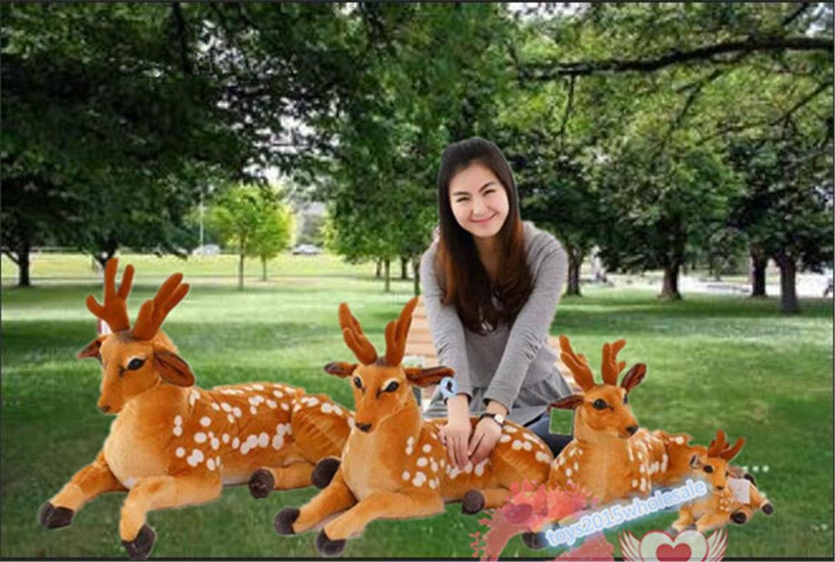 Hot  Toy Giant Big Cuddly Deer Plush Soft Toy Reindeer Animal No Sound Nice XMAS