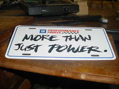 NOS original GM dealer showroom License plate embossed PERFORMANCE PARTS