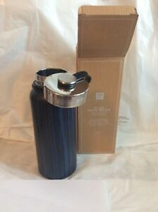New Pottery Barn Water Bottle Teen Boy College Blue Marble