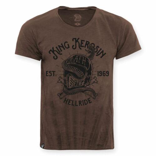 King Kerosin Hellride Snake T-Shirt Hazel Brown