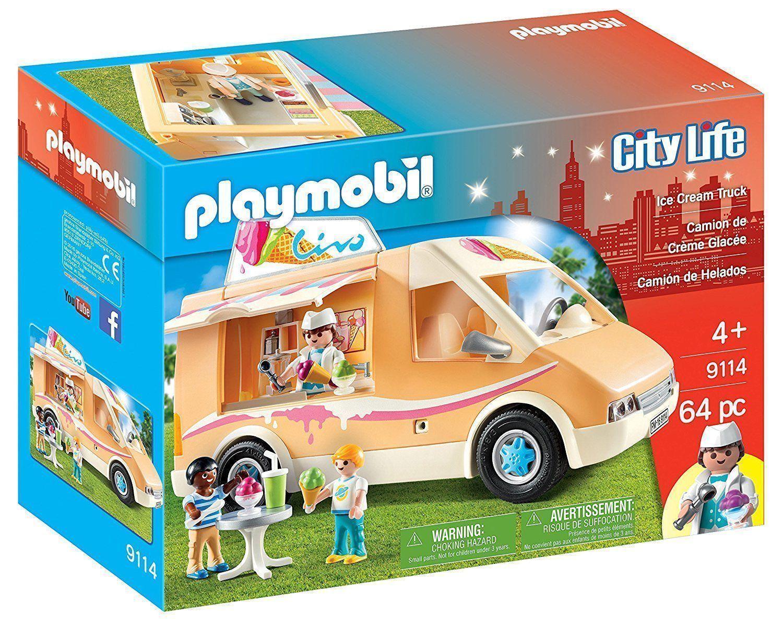 Playmobil 9114 9114 9114 City Life Eiswagen USA Ice Cream Truck 64 Teile mit Zubehör NEU 1da617