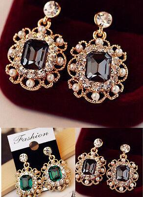 CECA Fashion New Women Lady Elegant Crystal Rhinestone Earring Ear Stud Earrings