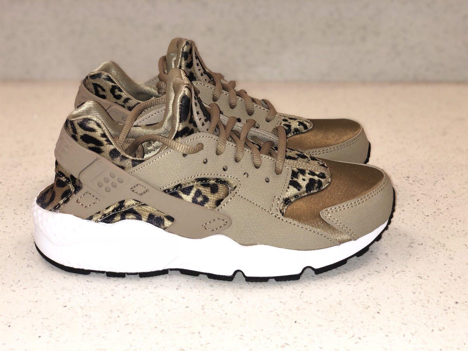 00a8b53a30cc Nike Air Huarache Run Run Run Print sz 6.5 Womens Leopard 725076-200 45d7bd