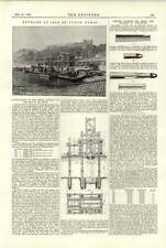 Purificación de río Sena 1891 syphons isla de St. Louis