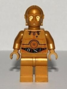 LEGO STAR WARS - C-3PO - Colorful Wires Pattern - Mini Fig / Mini Figure